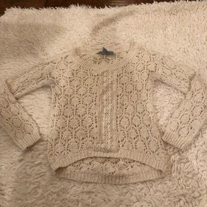 Flying tomato woven sweater Lacey pattern